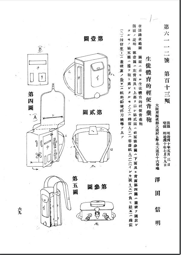 生徒体育的軽便背嚢鞄