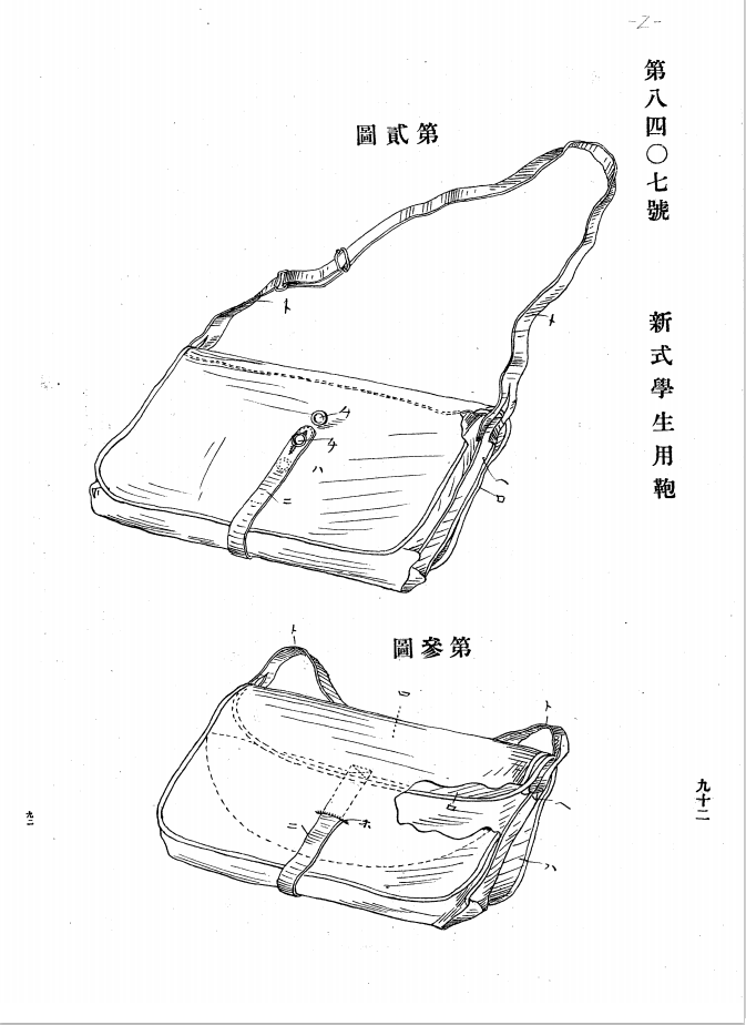 新式学生用鞄鞄
